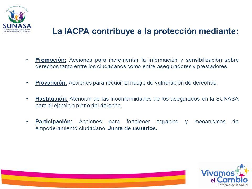 La IACPA contribuye a la protección mediante: