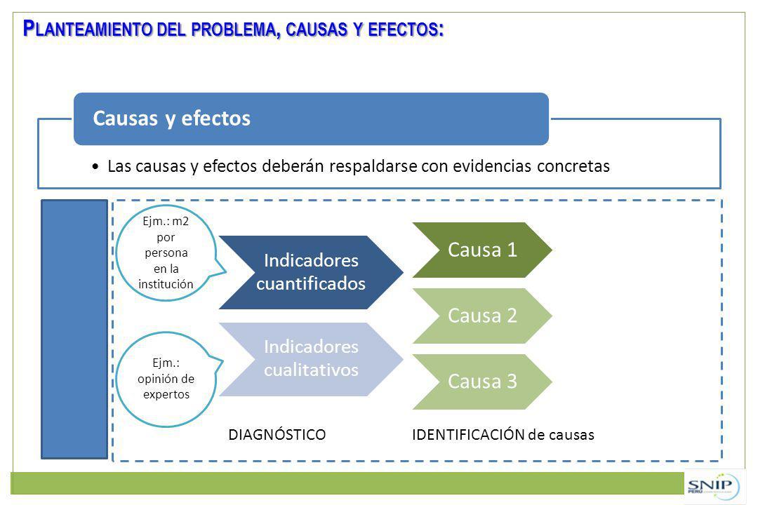 Causas y efectos Planteamiento del problema, causas y efectos: Causa 1