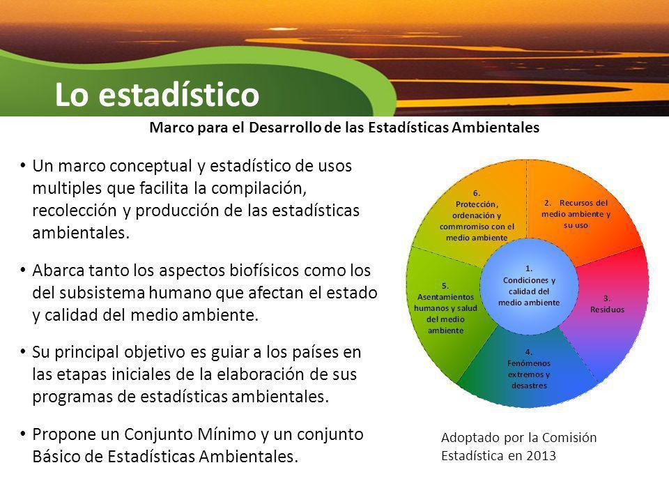 Marco para el Desarrollo de las Estadísticas Ambientales
