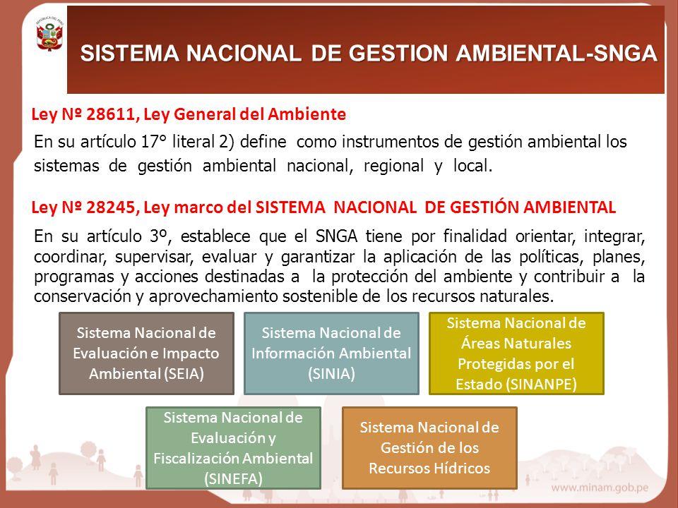 SISTEMA NACIONAL DE GESTION AMBIENTAL-SNGA