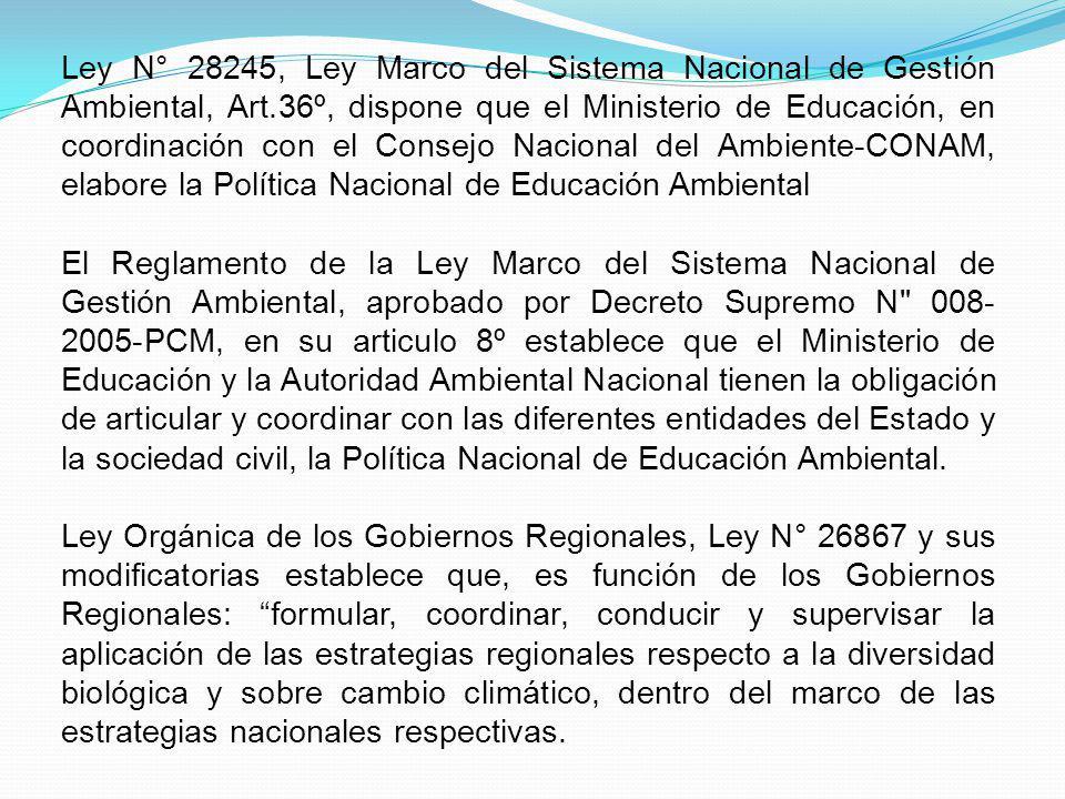 Ley N° 28245, Ley Marco del Sistema Nacional de Gestión Ambiental, Art