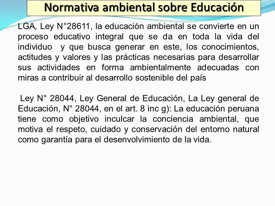 Normativa ambiental sobre Educación