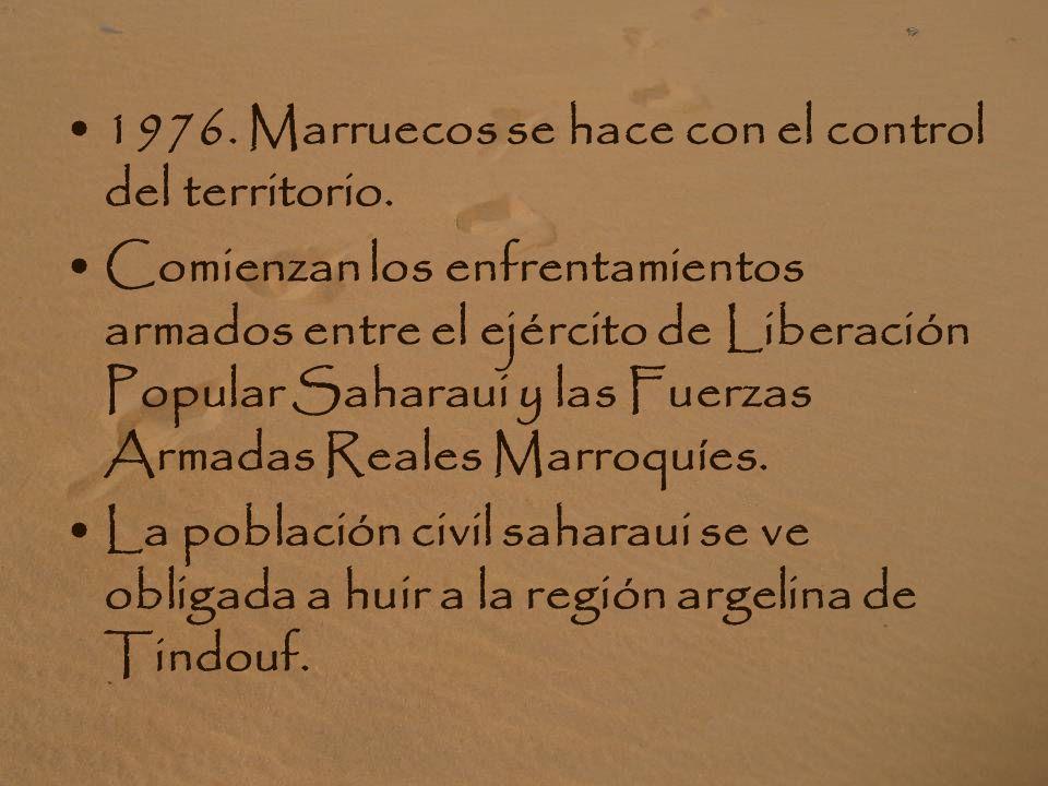 1976. Marruecos se hace con el control del territorio.