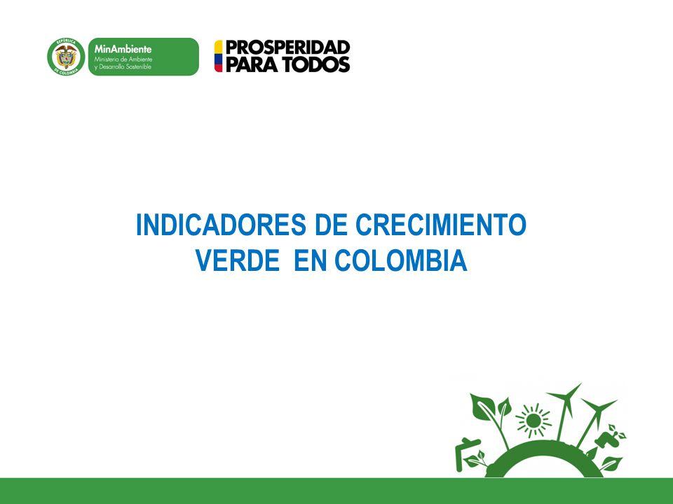 INDICADORES DE CRECIMIENTO VERDE EN COLOMBIA