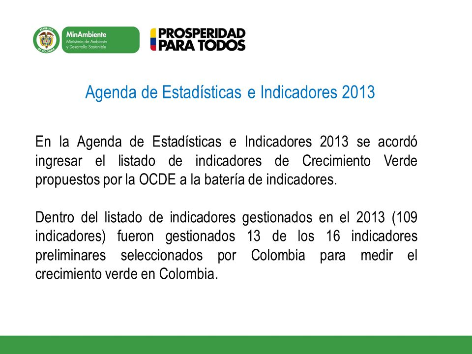 Agenda de Estadísticas e Indicadores 2013