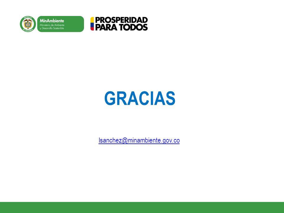 GRACIAS lsanchez@minambiente.gov.co
