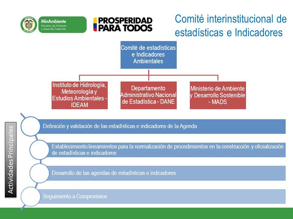 Comité interinstitucional de estadísticas e Indicadores