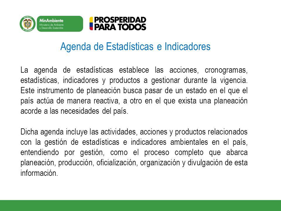 Agenda de Estadísticas e Indicadores