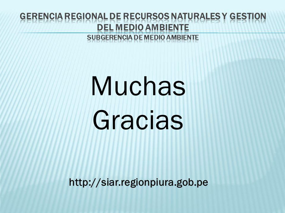 Muchas Gracias http://siar.regionpiura.gob.pe