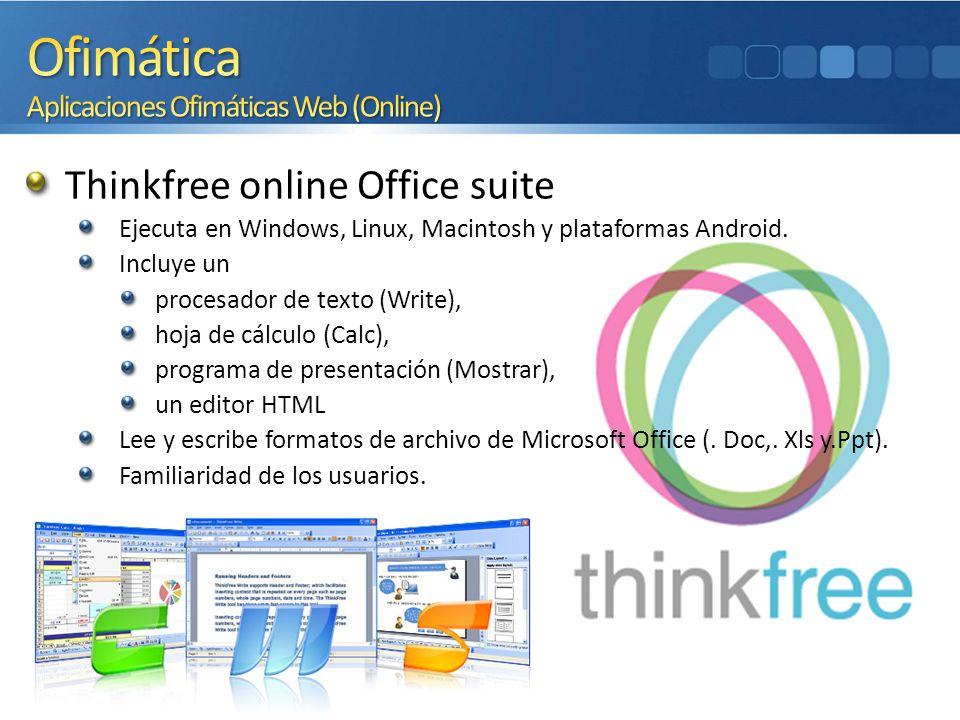 Ofimática Aplicaciones Ofimáticas Web (Online)