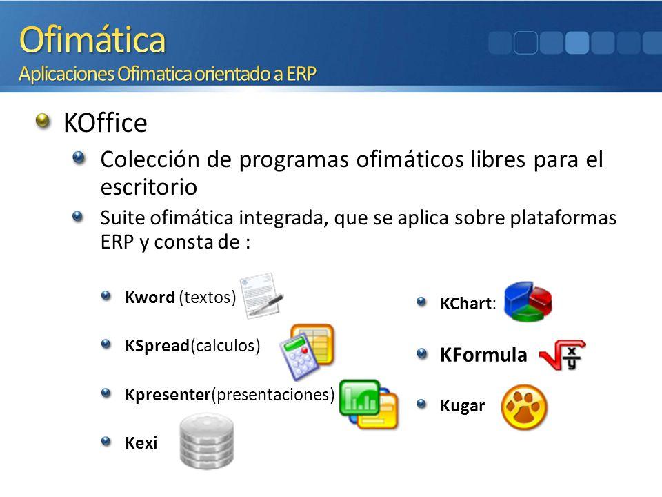 Ofimática Aplicaciones Ofimatica orientado a ERP