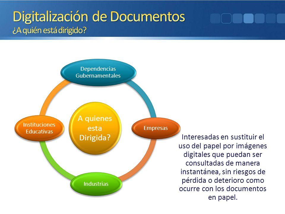 Digitalización de Documentos ¿A quién está dirigido