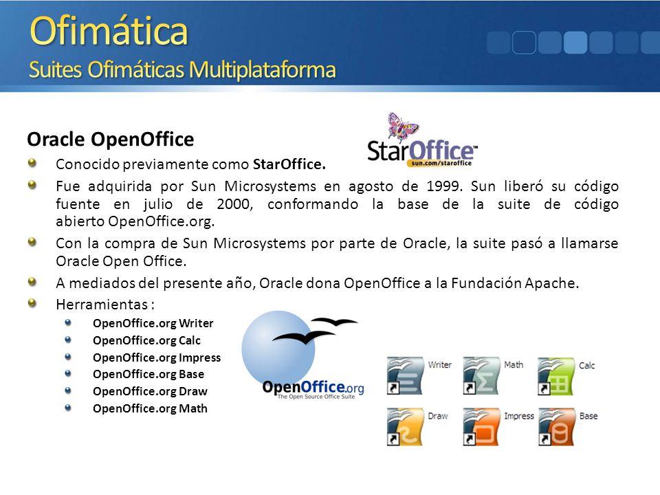 Ofimática Suites Ofimáticas Multiplataforma