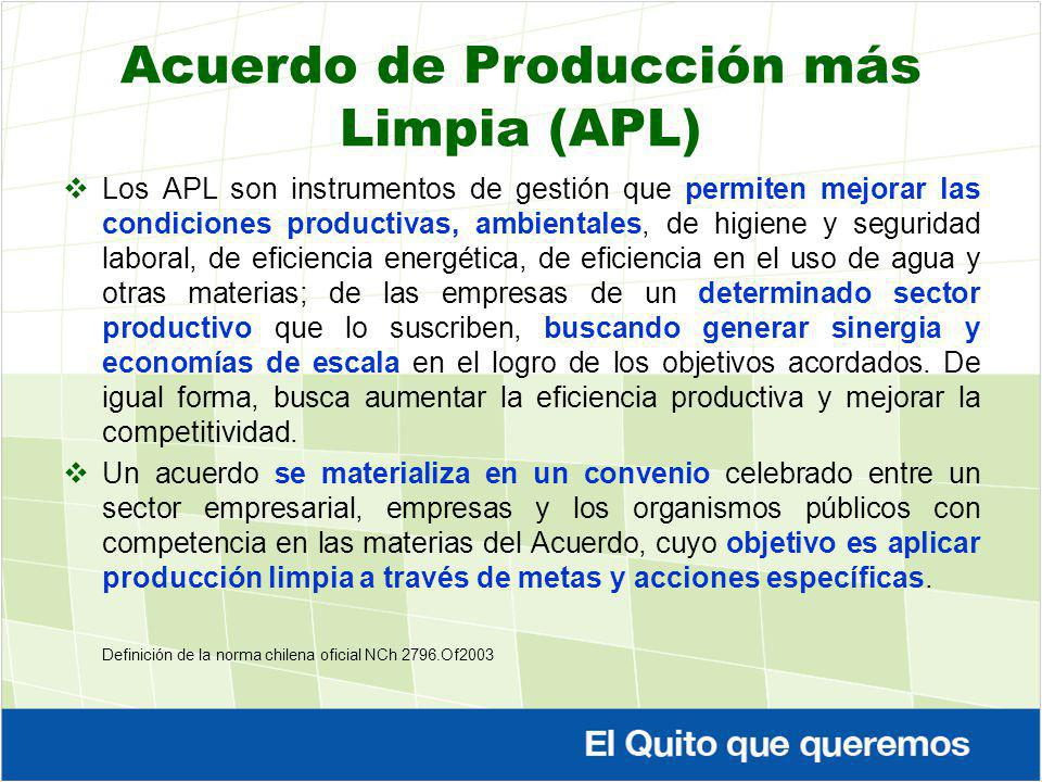 Acuerdo de Producción más Limpia (APL)