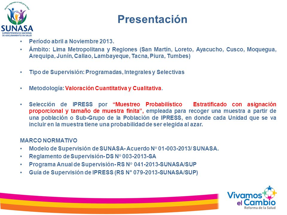 Presentación Período abril a Noviembre 2013.