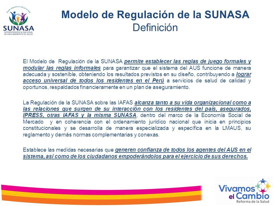 Modelo de Regulación de la SUNASA Definición