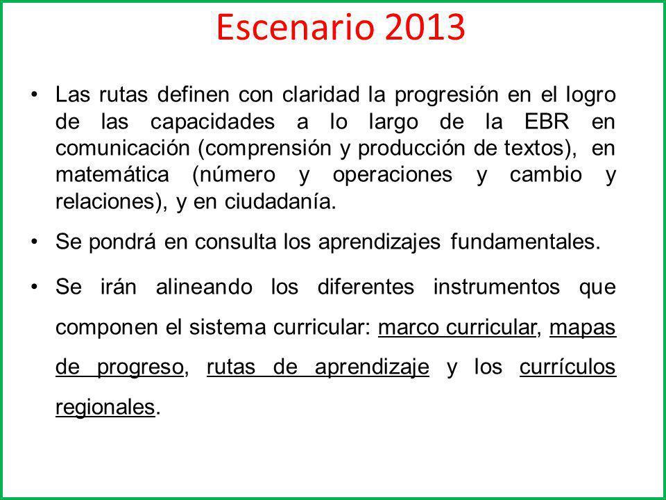 Escenario 2013