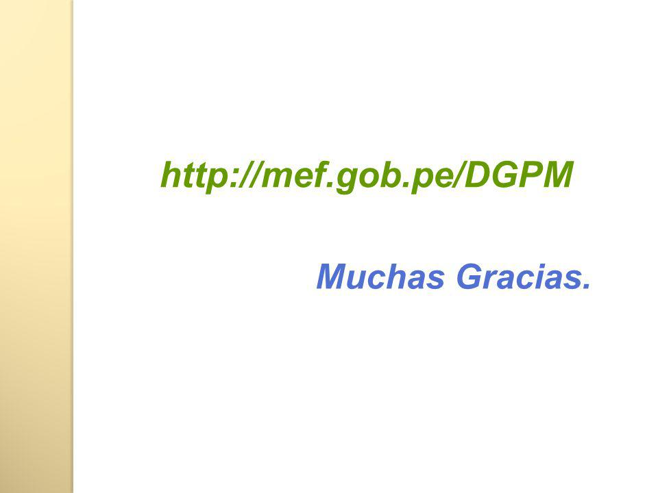 http://mef.gob.pe/DGPM Muchas Gracias.