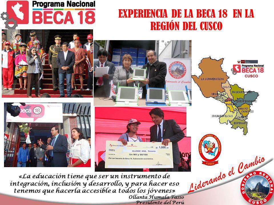 EXPERIENCIA DE LA BECA 18 EN LA REGIÓN DEL CUSCO