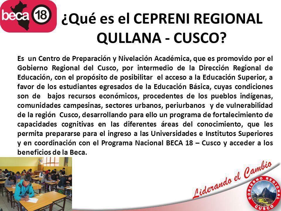 ¿Qué es el CEPRENI REGIONAL QULLANA - CUSCO