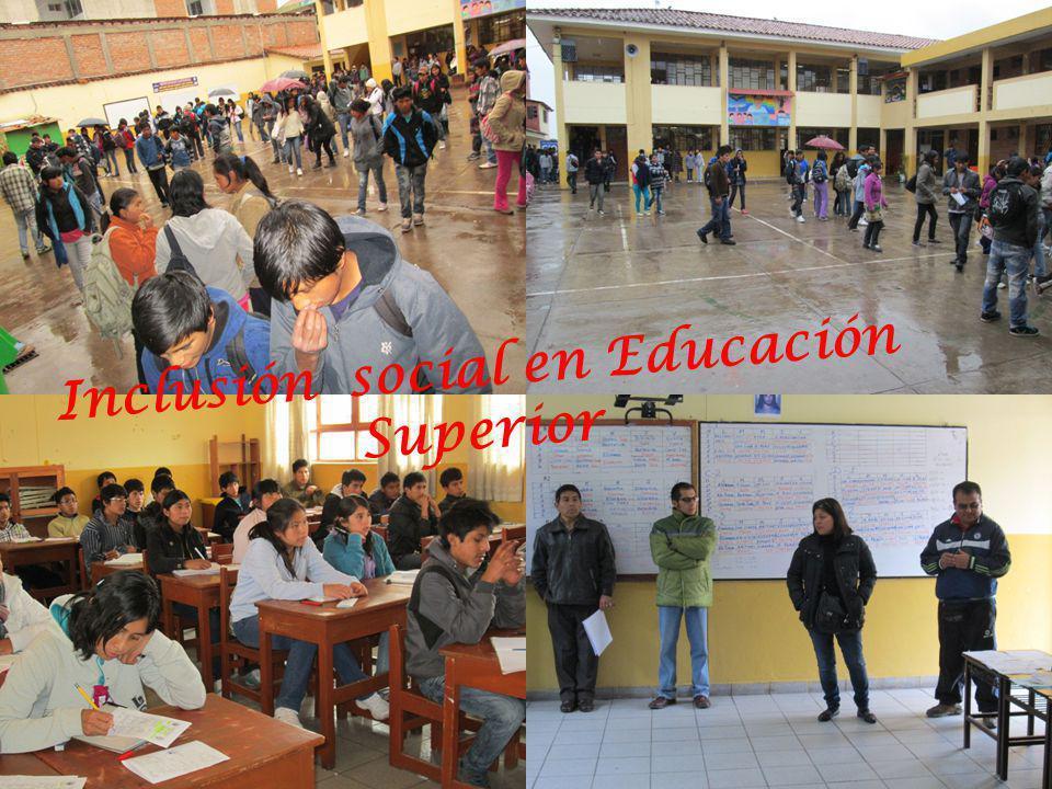 Inclusión social en Educación Superior