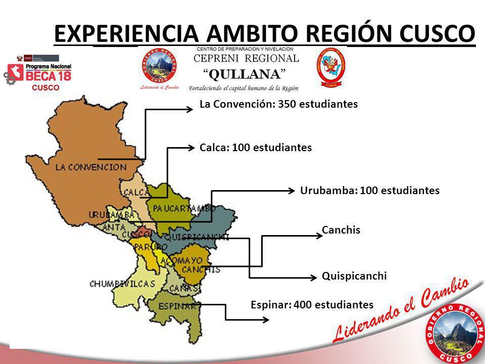 EXPERIENCIA AMBITO REGIÓN CUSCO