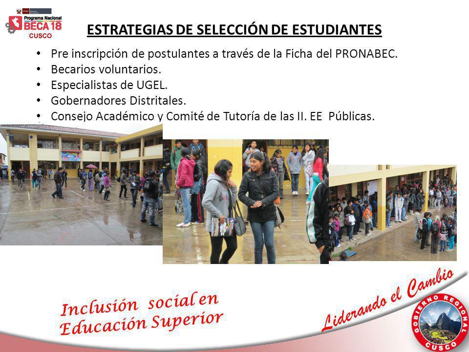 ESTRATEGIAS DE SELECCIÓN DE ESTUDIANTES