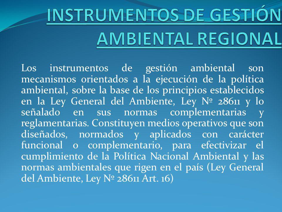 INSTRUMENTOS DE GESTIÓN AMBIENTAL REGIONAL