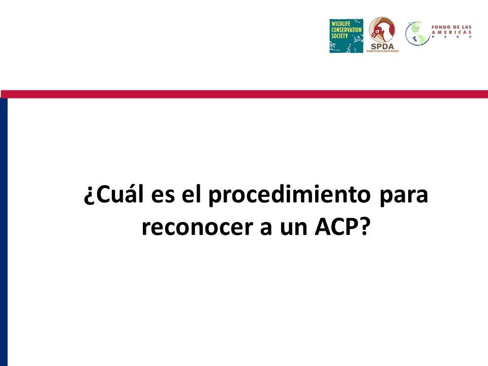 ¿Cuál es el procedimiento para reconocer a un ACP