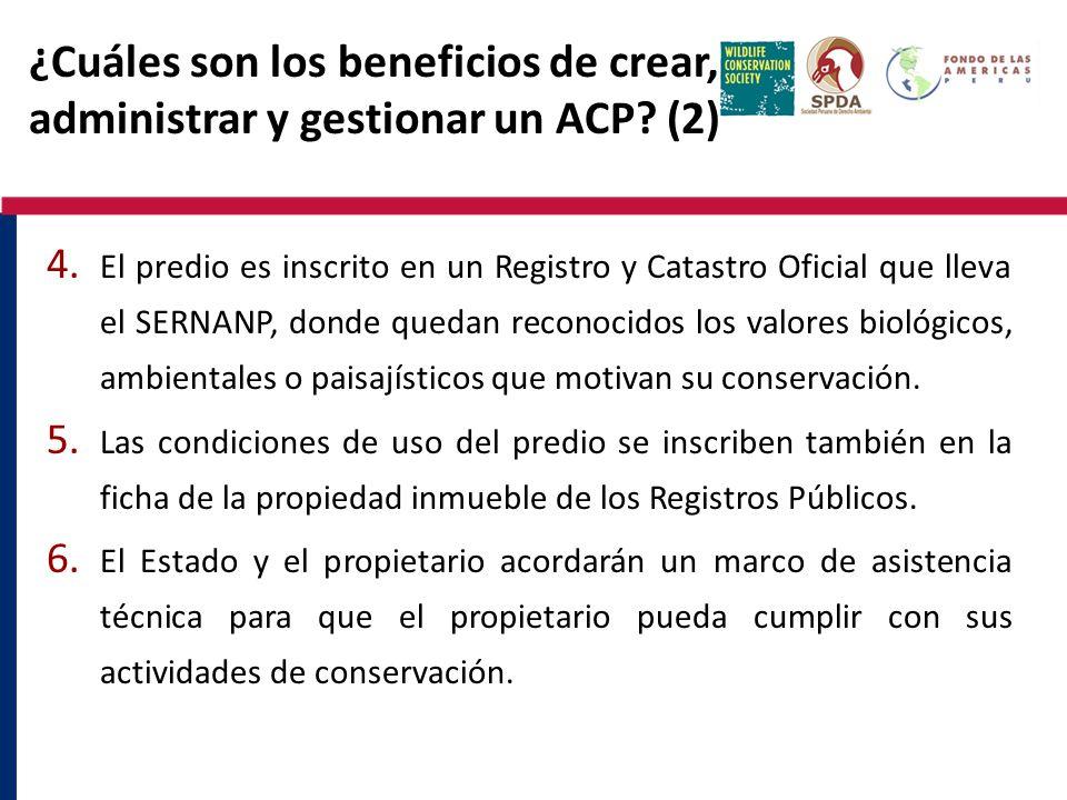 ¿Cuáles son los beneficios de crear, administrar y gestionar un ACP