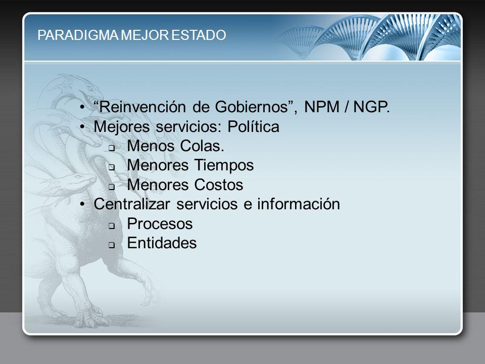Reinvención de Gobiernos , NPM / NGP. Mejores servicios: Política