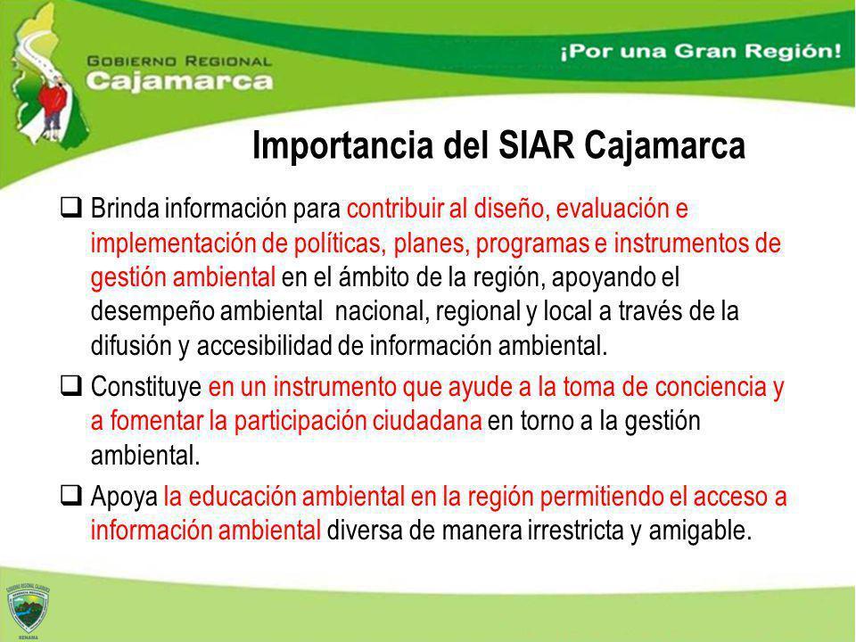 Importancia del SIAR Cajamarca