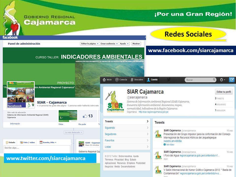 Redes Sociales www.facebook.com/siarcajamarca
