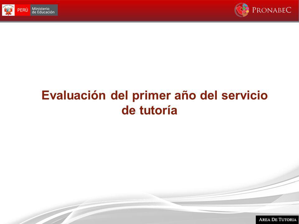 Evaluación del primer año del servicio de tutoría
