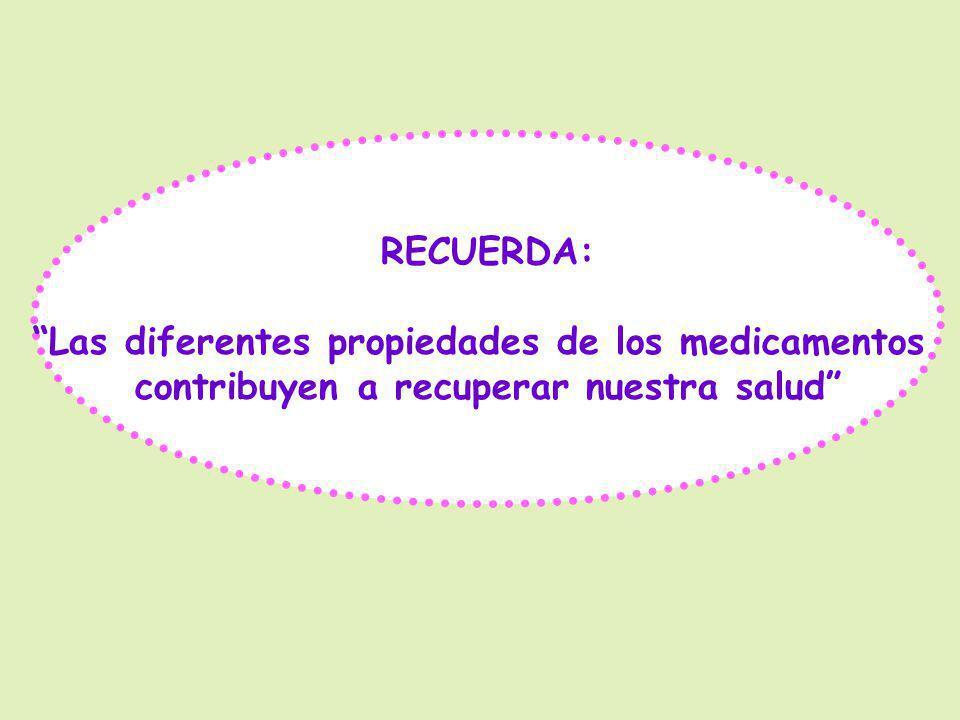 Las diferentes propiedades de los medicamentos