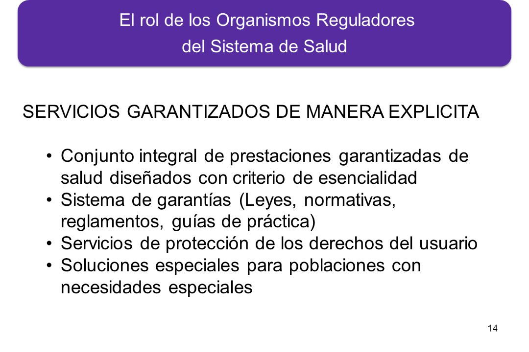 El rol de los Organismos Reguladores