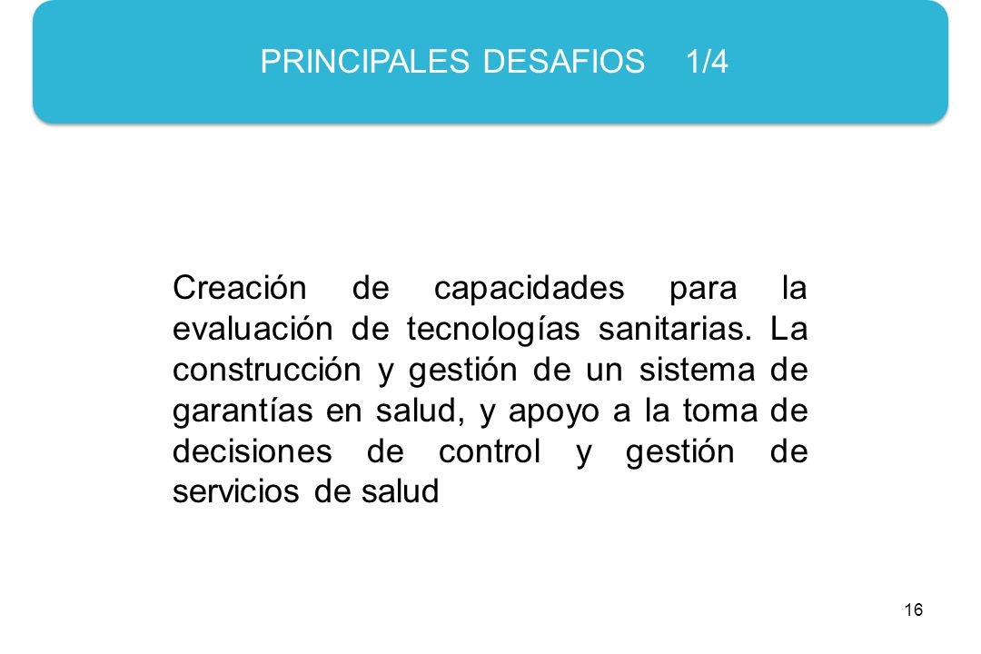 PRINCIPALES DESAFIOS 1/4