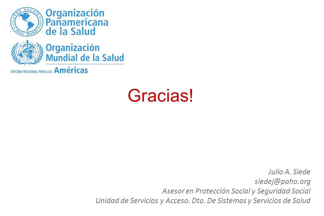 Gracias! Julio A. Siede siedej@paho.org
