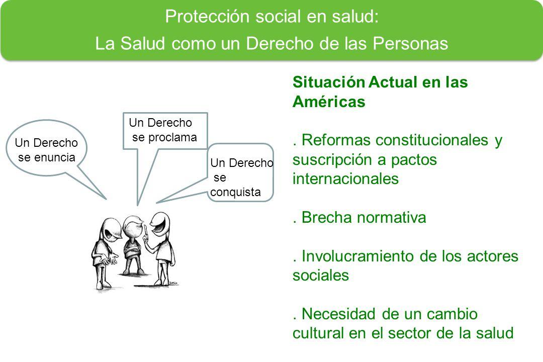 Protección social en salud: La Salud como un Derecho de las Personas