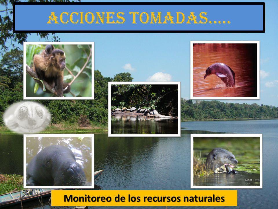 Monitoreo de los recursos naturales