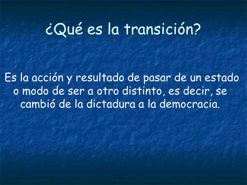 ¿Qué es la transición