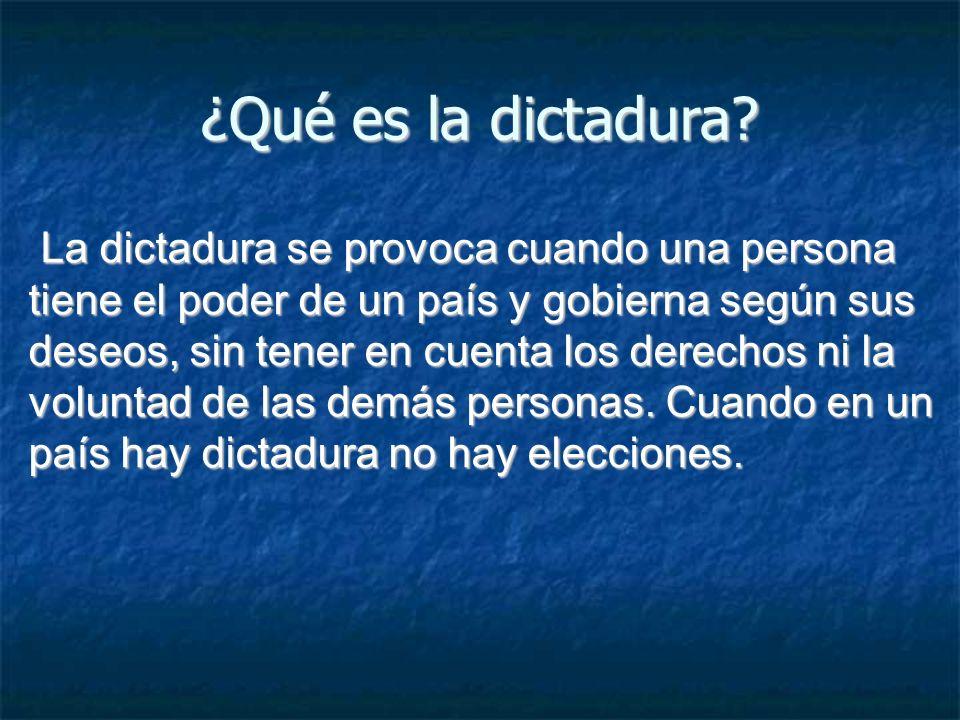 ¿Qué es la dictadura