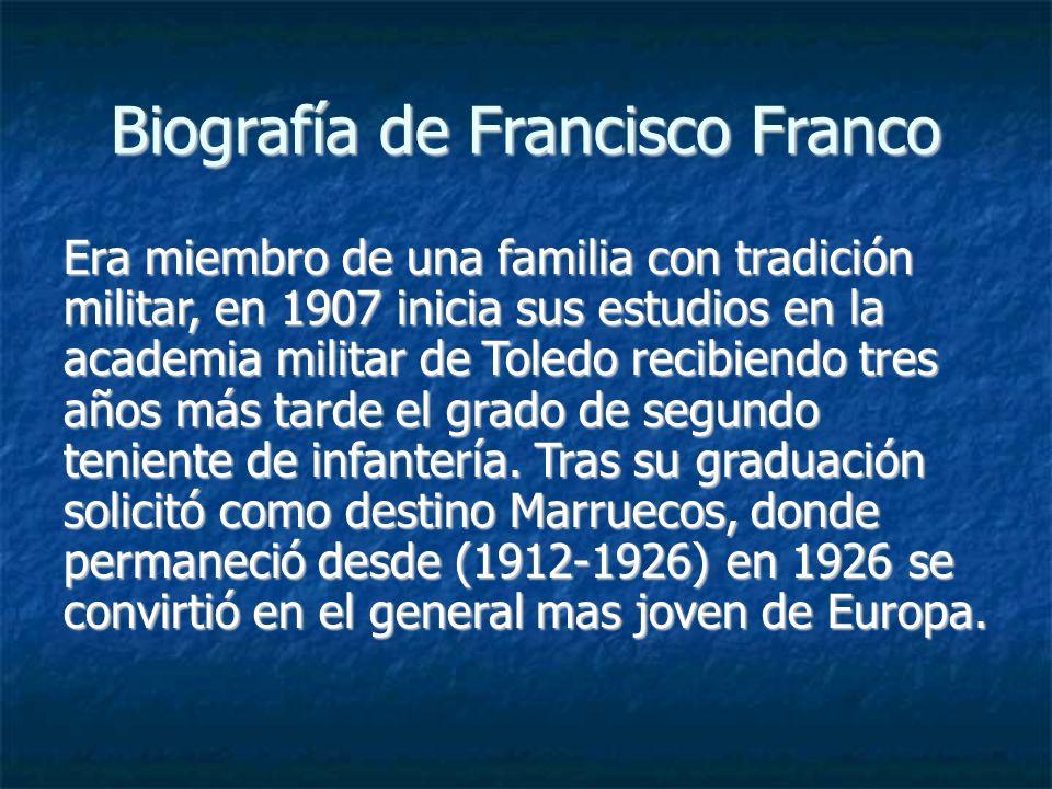 Biografía de Francisco Franco