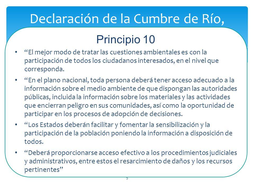 Declaración de la Cumbre de Río, Principio 10