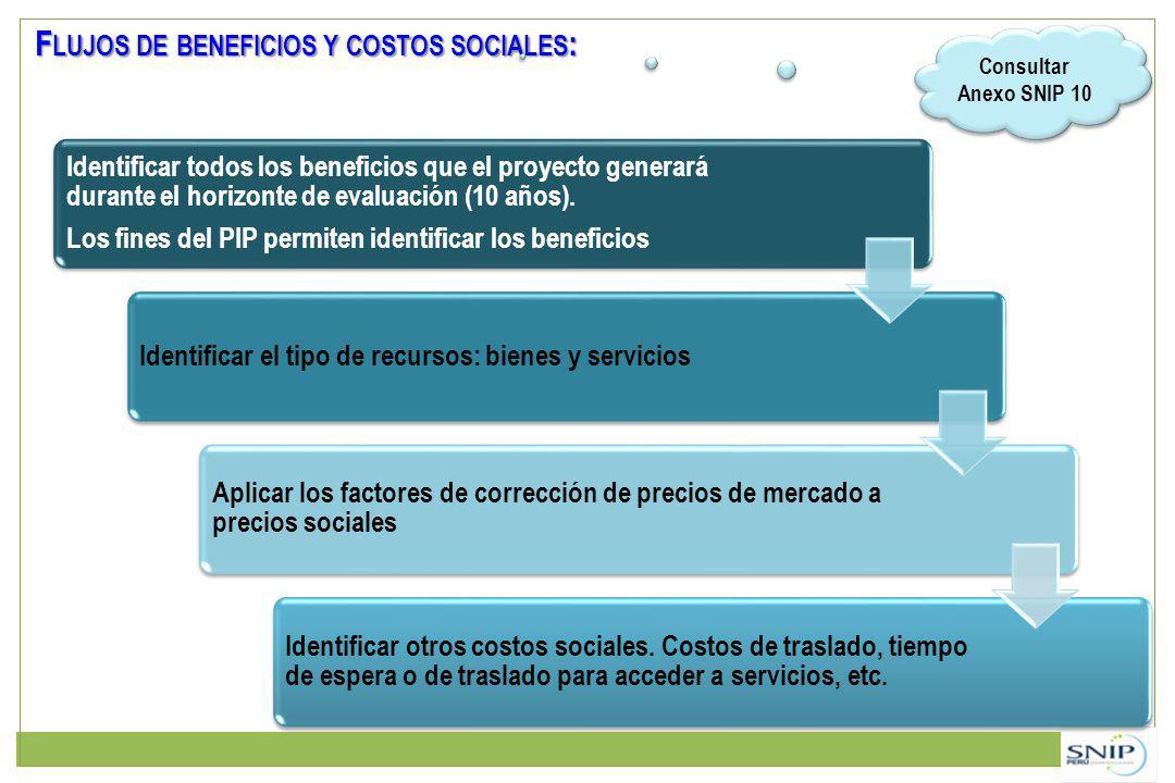 Flujos de beneficios y costos sociales: