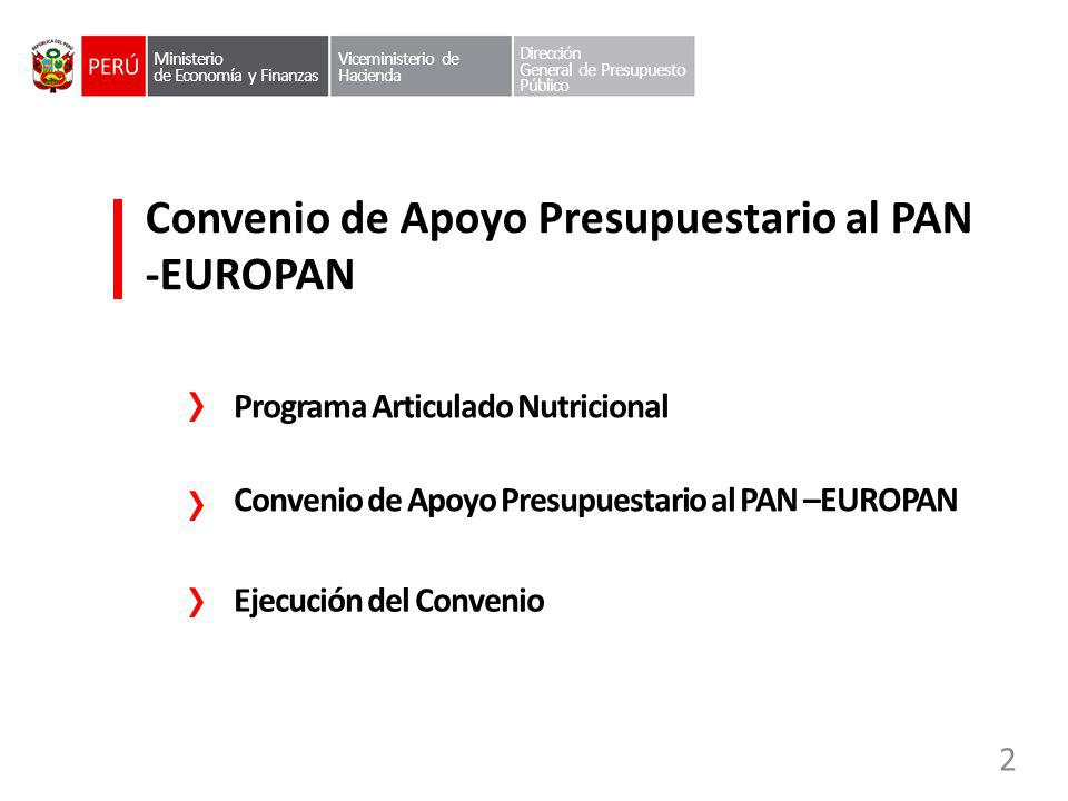 Convenio de Apoyo Presupuestario al PAN -EUROPAN
