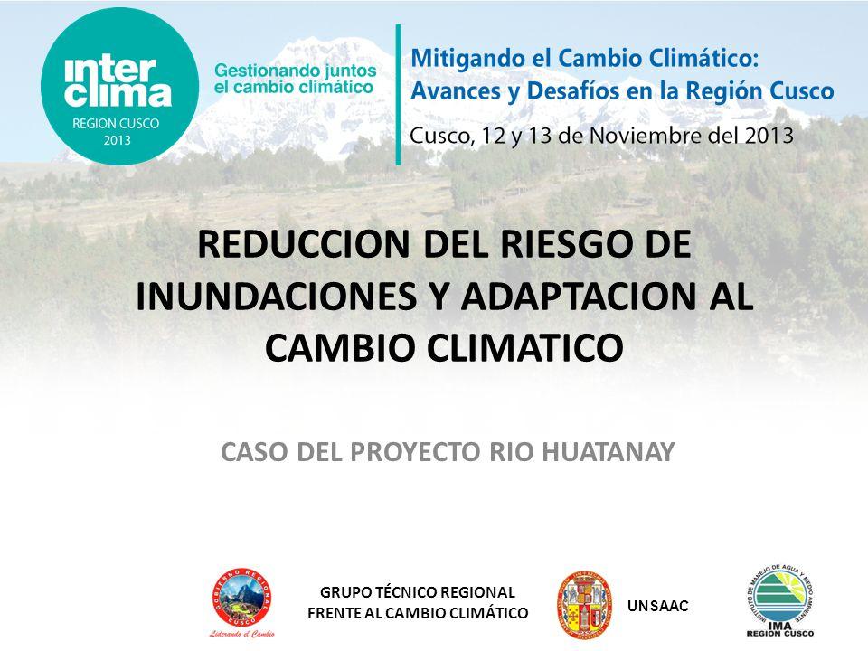 REDUCCION DEL RIESGO DE INUNDACIONES Y ADAPTACION AL CAMBIO CLIMATICO