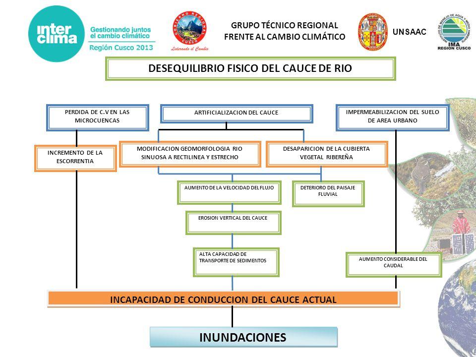 INUNDACIONES DESEQUILIBRIO FISICO DEL CAUCE DE RIO