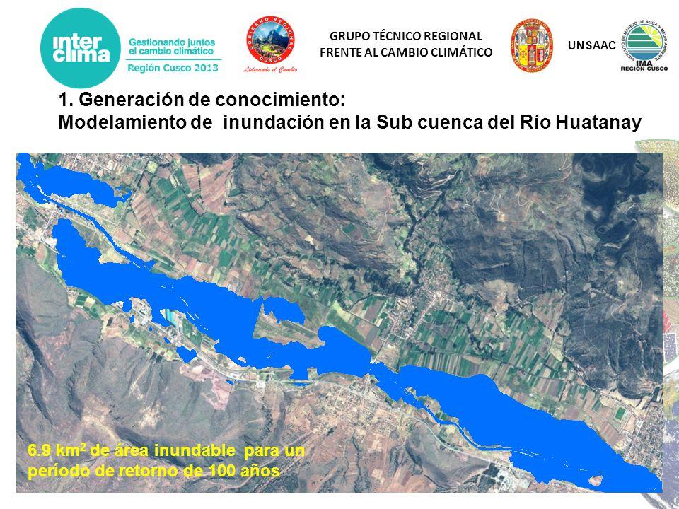 UNSAAC 1. Generación de conocimiento: Modelamiento de inundación en la Sub cuenca del Río Huatanay.