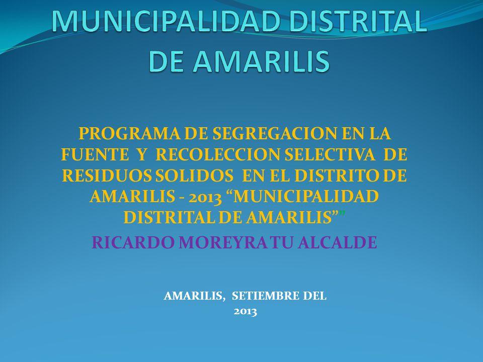 MUNICIPALIDAD DISTRITAL DE AMARILIS